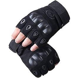 Navkar Crafts Cycling, Riding, Mountain Bike, Half Finger Anti-Slip Gloves for Men & Women (Black)
