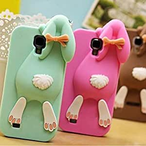 JJE Lovely Cartoon Rabbit Pattern Silicone Soft Case for Samsung Galaxy S4 I9500 (Assorted Color)