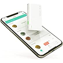 Memo Box Mini Bluetooth Electronic Pill Organizer and APP, Visual Audio Smart Pill Reminder Alarm, Automatic Medication Records Tracking and Family Meds Notification