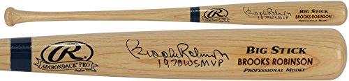 Brooks Robinson Baltimore Orioles Autographed Blonde Big Stick Bat with WS MVP Inscription - Fanatics Authentic (Big Stick Autograph)