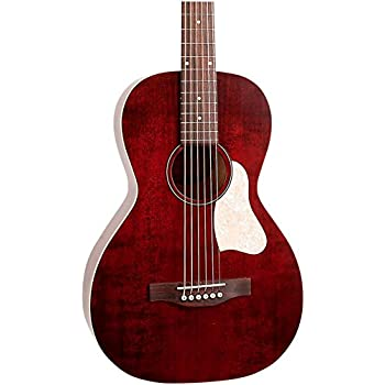 Art & Lutherie Roadhouse Parlor Acoustic-Electric Guitar Tennessee Red