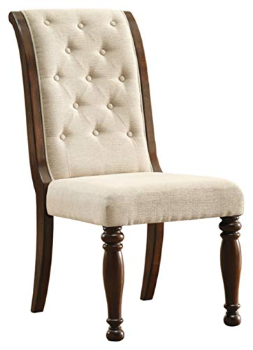 - Signature Design by Ashley D697-04 Porter Dining Chair, Rustic Brown
