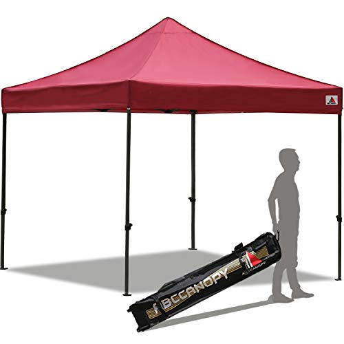 (ABCCANOPY Pop up Canopy Tent Commercial Instant Shelter with Wheeled Carry Bag, 10x10 FT)