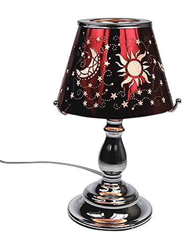 Electric Touch Fragrance Aromatherapy Lamp Oil Warmer Wax Melts Red Celestial Moon Sun Stars