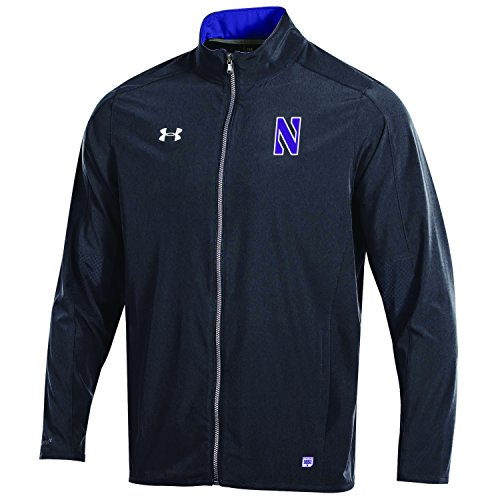 Under Armour NCAA Northwestern Wildcats Adult Men NCAA Men's Sideline Warm Up Jacket, Medium, Black