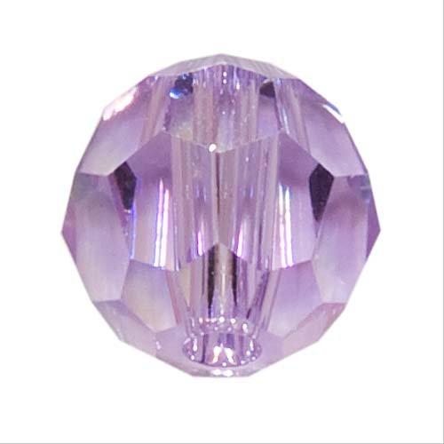 - 10 Round 6mm (5000) Swarovski Crystal Beads VIOLET AB.