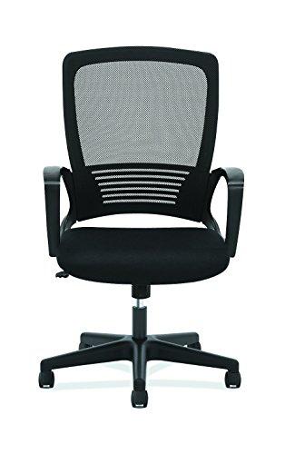 HON High Back Task Chair – Mesh Back Office Chair for Computer Desk, Black HVL525