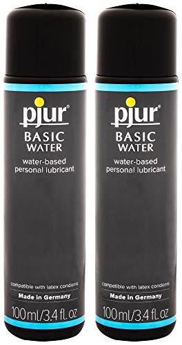 (Pjur Basic Water Lubricant - Water-Based Personal Lubricant for Penile or Vaginal Application (3.4 Fluid Ounce / 100 Milliliter - Pack of Two))