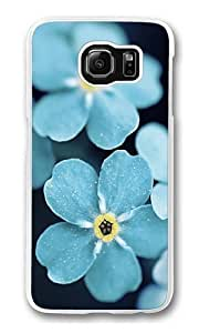 Forget Me Blue Flowers Custom Samsung Galaxy S6/Samsung S6 Case Cover Polycarbonate Transparent