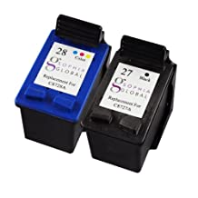 Sophia Global Remanufactured Ink Cartridge Replacement for HP 27 and HP 28 (1 Black, 1 Color)