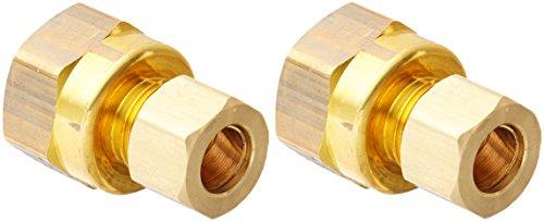 Brasscraft 66-6-8X 3/8 OD  by 1/2-Inch  Female Reducing Adapter Lead-Free, Rough Brass