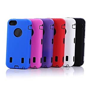 New Armor Defender Hybrid Silicone PC Hard Case Shockproof Full Body for iPhone5C , White