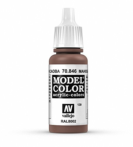 Vallejo Mahogany Brown Paint, 17ml