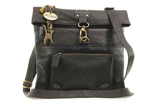 Collection Nero Bolso bandolera Cuero Schwarz DISPATCH Catwalk Negro OqvwxSpOd