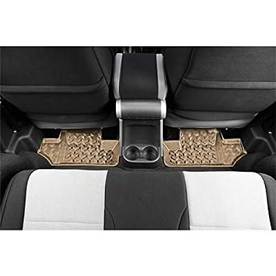 Rugged Ridge 13950.02, All Terrain Floor Liner, Rear, Tan, 2007-2020 Jeep Wrangler JK: Automotive