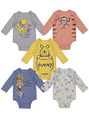 Disney Winnie The Pooh Baby Boys 5 Pack Long Sleeve