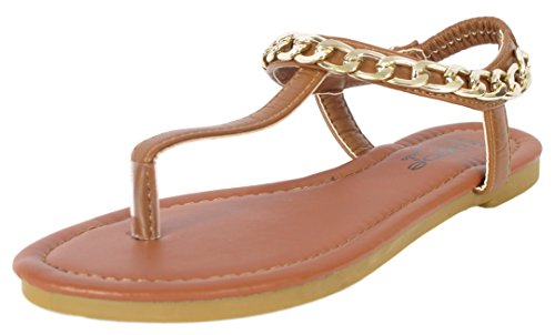 bebe-girls-chain-link-strap-cognac-thong-sandals-size-2-3