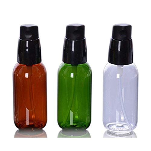 3PCS 50ML/1.7oz Empty Emulsion Lotion Bottle With Black Pump Head Refillable PET Cosmetic Container Jars Vials Travel Packing Case Box (BPA Free) For Essential Oil Shower Gel Shampoo Essence Oils