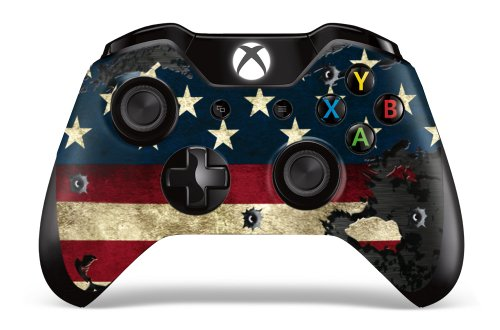 Designer Skin Sticker for the Xbox One Wireless Controller Decal- - Battle Torn Stripes