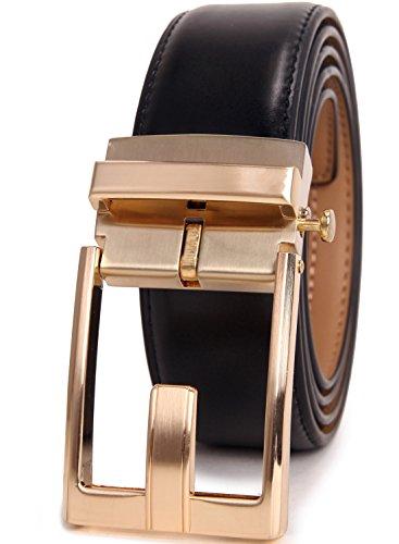 Beltox Fine Men's Ratchet Dress Leather Belt with Automati