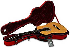 Crossrock CRF1000CRD - Funda para guitarra clásica (fibra de vidrio), color rojo: Amazon.es: Instrumentos musicales