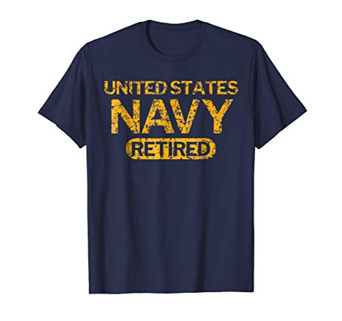 United States Navy Retired Faded Grunge T-Shirt