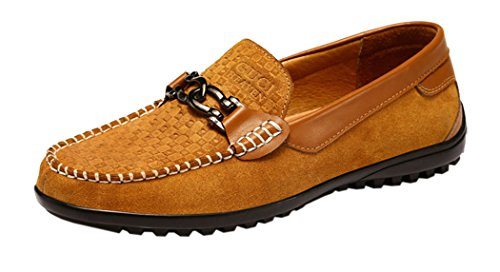 Guciheaven Mens 2015 New British Style Low Top Casual Suede Moccasin Shoes(9.5 D(m)us, Tan)