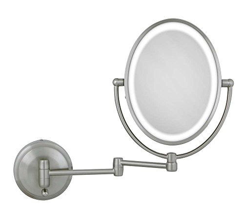 Zadro 10X/1X Next Generation LED Lighted Oval Wall Mount Mirror, Satin Nickel by Zadro (Image #1)