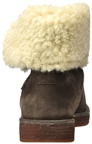 Clarks Mujer Botas para Haze Drafty Suede Beige Taupe qTqZFv