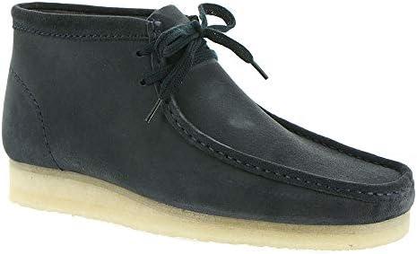 CLARKS Men's Wallabee Boot Dark Blue Suede 11 D US D (M