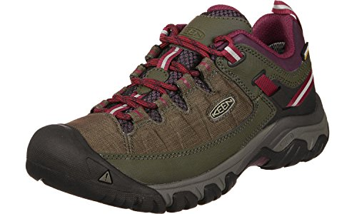 Keen Targhee EXP WP Shoes Women Canteen/Grape Wine Schuhgröße US 10,5 | EU 41 2018 Schuhe
