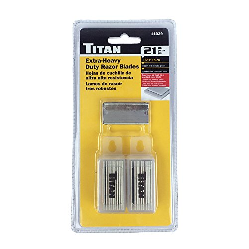 Titan Tools 11039 Heavy Duty Razor Blade - 21 Piece (Titan Single)
