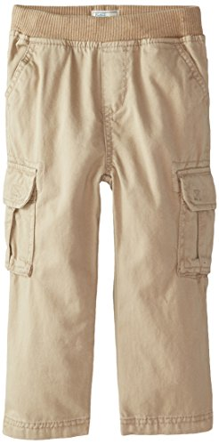 The Children's Place Little Boys and Toddler Pull-On Cargo Pant, Flax, 4T - Kids Cargo Pants