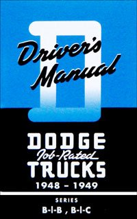 1948-1949 Dodge Truck Owners Manual (with Decal)