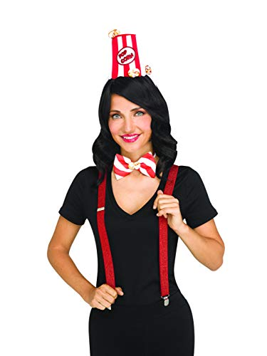 Fun World Popcorn Sweats and Treats Womens Adult Costume Kit Adult One Size ()