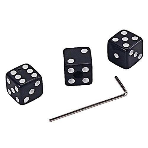 kesoto 3 Pcs Guitar Control Knobs with Wrench Guitar Dice Replacement - Black, as described
