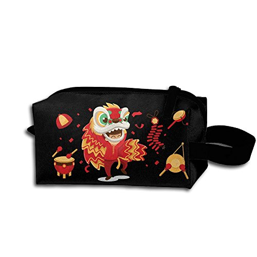 Women Handle Portable Carry Bag Chinese Festival Travel Oganizer High-capacity Toiletry Kits (Hindi Outfit)