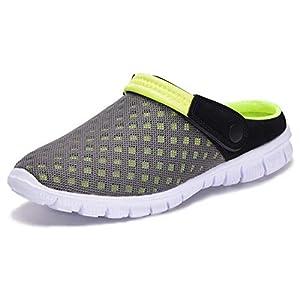 Femmes Hommes Sabots Mules Respirant Chaussures de Jardin Perforés-Sabot de Plage Sport Pantoufles Piscine Sandales D…