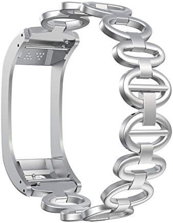 ANCOOL CompatibleVivosmart HR+ BandsAccessory Stainless Steel Replacement Strap Metal Bracelet?Wristband for Vivosmart HR+ GPS Smart Watch(NOT for Vivosmart HR)-Silver / ANCOOL CompatibleVivosmart HR+ BandsAccessory Stainless Steel...