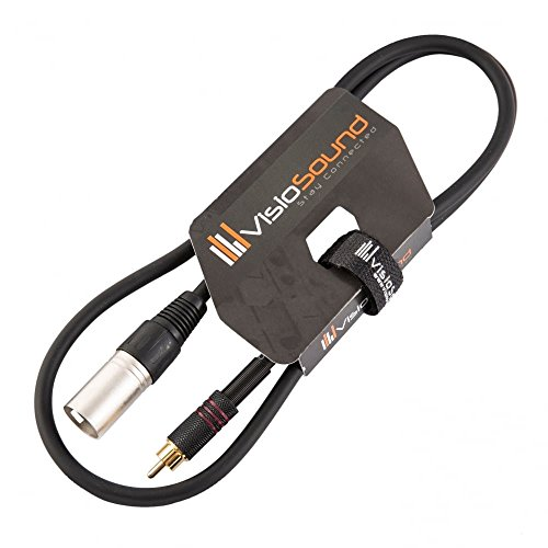 - VisioSound Male XLR to Single RCA Gold Phono Plug Audio Lead/Signal / Patch Cable 3 Feet