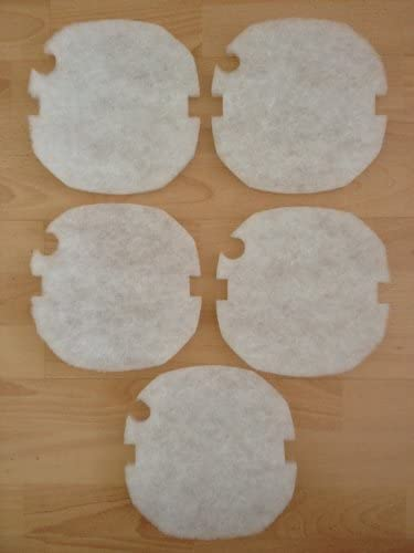 5 x AquaManta EFX 300//400 External Filter Replacement Fine Wool Filter Pads