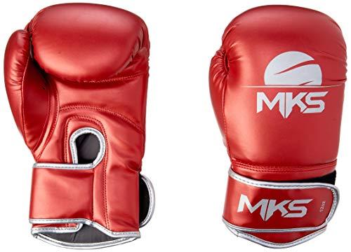 Luva de Boxe Energy, Tamanho 12Oz,MKS, Vermelho Metálico