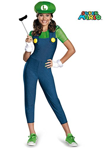 Luigi Tween Girl Costume - Luigi Costumes For Girls