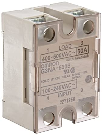 Zero Cross Function Yellow Indicator 100 to 120 VAC Input Voltage Photocoupler Isolation 10 A Rated Load Current 24 to 240 VAC Rated Load Voltage Omron G3NA-210B-AC100-120 Solid State Relay