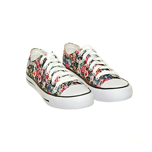 Nuovo Stile!! Sneaker Da Donna Classica Da Skate In Canvas Best Seller Green / White