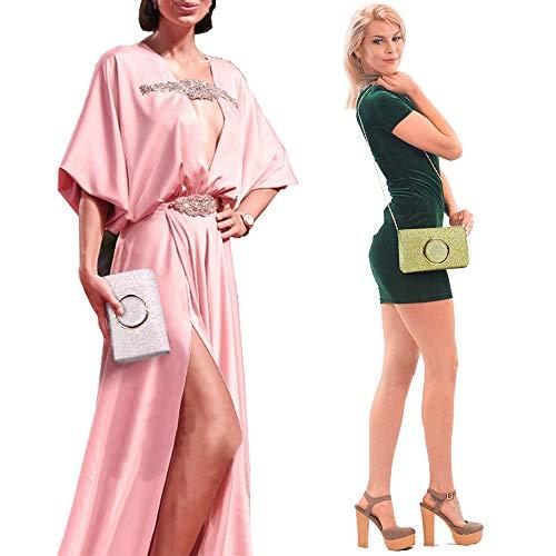 Pink Party Glitter Purse Shiny Evening Clutch Sequin Bag Women Handbag Rd0qzwz