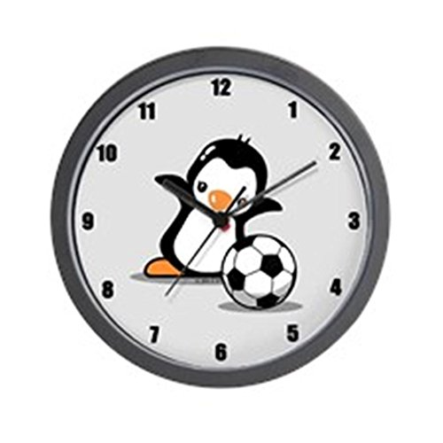 CafePress Soccer Penguin Wall Clock Unique Decorative 10
