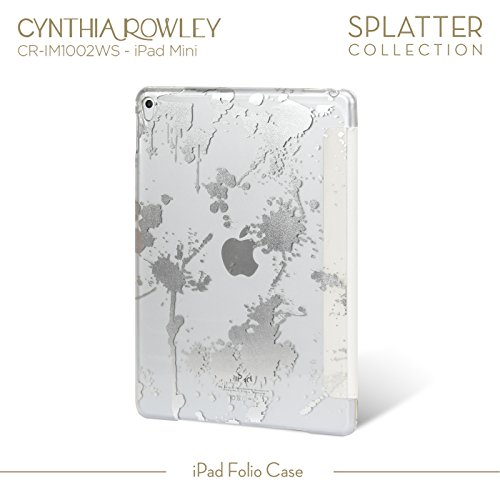 Cynthia Rowley iPad Mini 4 Smartbook Case (White/Silver) (Otter Case Kindle 7 Hd)