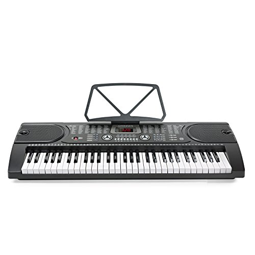 [해외]Hamzer 61 키 디지털 음악 피아노 키보드 - 휴대용 전자 악기 - 마이크 포함/Hamzer 61-Key Digital Music Piano Keyboard - Portable Electronic Musical Instrument - with Microphone