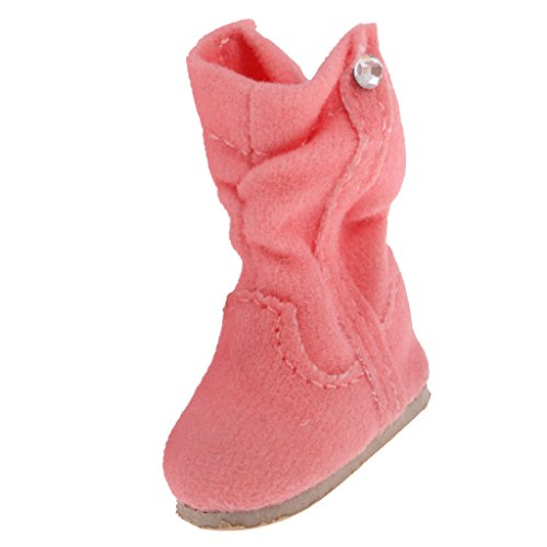 MagiDeal Trendy Lovely Pink Doll Boots Shoes Fit for 12'' Blythe Dolls Clothes ACCS ()